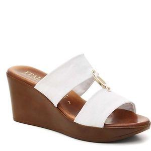 Italian Shoemakers Elly Wedge Sandal - White 6